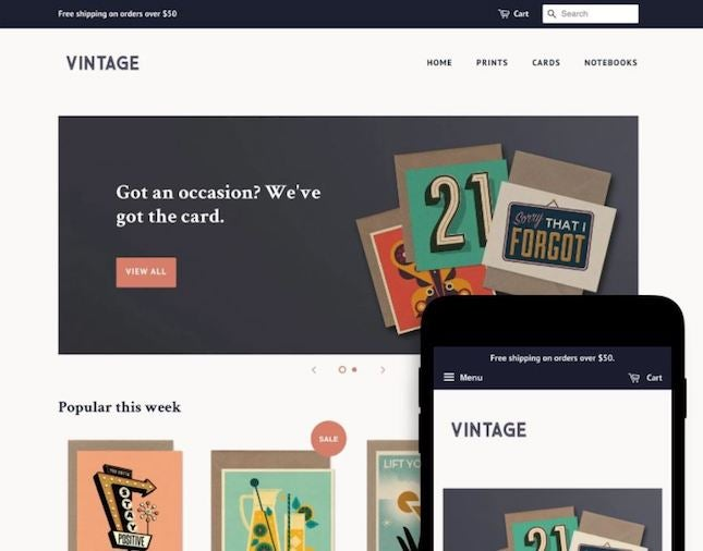 Minimal by Shopify artist website template
