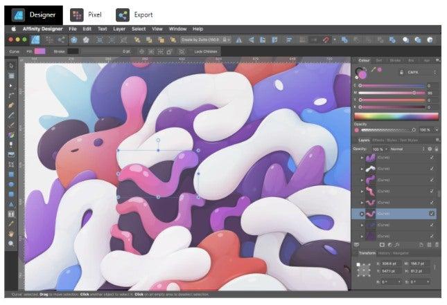 Best graphic design software - Affinity Designer