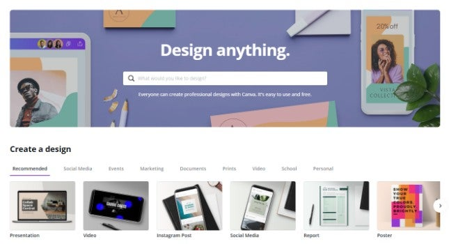 Best graphic design software - Canva