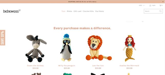 Bebemoss product page