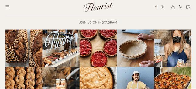 Flourist's Instagram feed