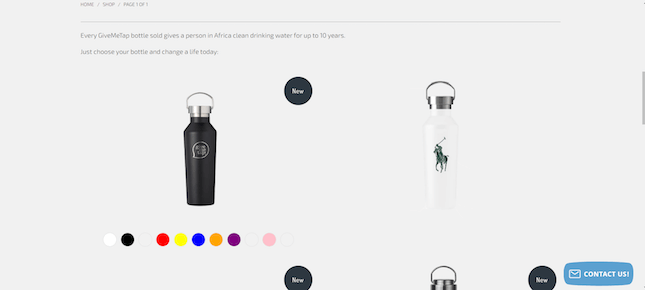 A Give Me Tap! product page