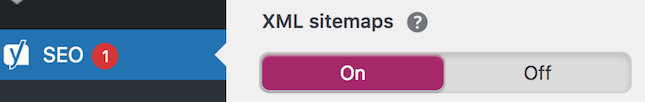 Yoast SEO plugin for sitemap creation screenshot