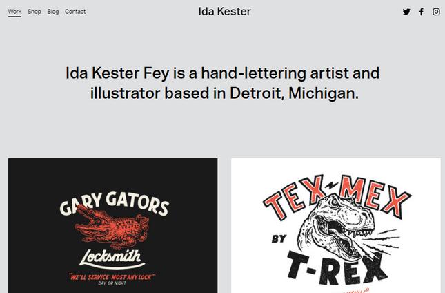 Squarespace About Page Kester Template