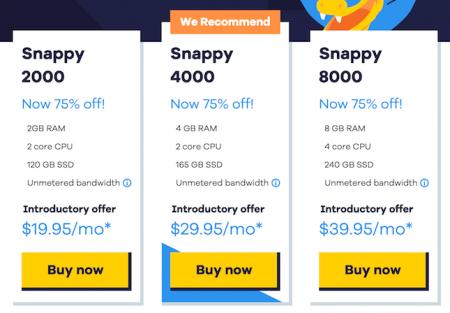 HostGator VPS Django hosting pricing plans screenshot