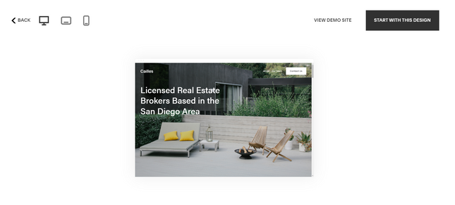 Squarespace real estate template