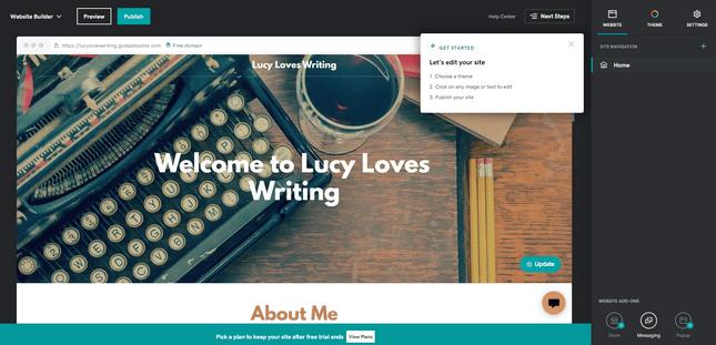 GoDaddy auto-generated site