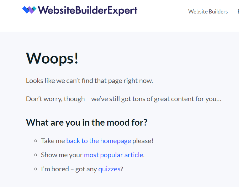 Приклад 404 сторінки
