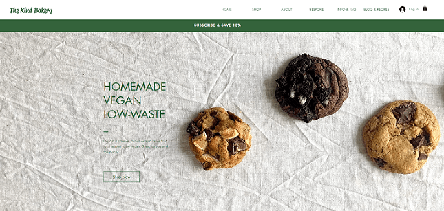 Sell food online - The Kind Bakery