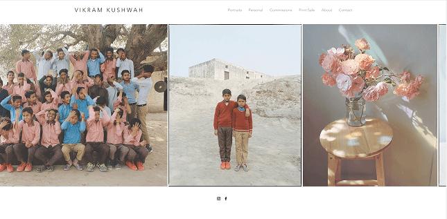 Vikram Kushwah's Wix photography site