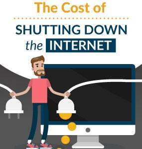 cost of shutting down the internet