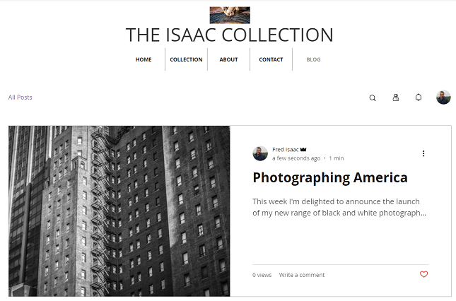 squarespace blog page