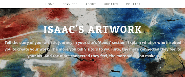weebly art store about us