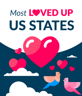 Most Loved-up US States