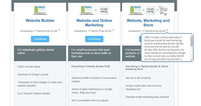webcom pricing plans