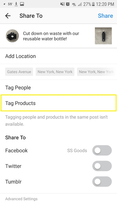 Tagging Products on Instagram