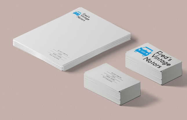 Tailor Brands Business Card Example