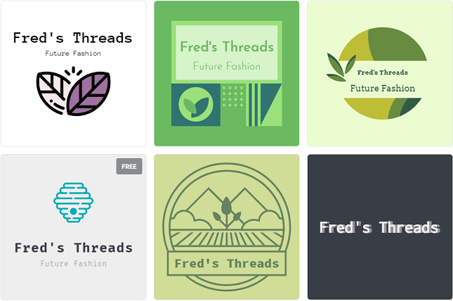 best logo makers - shopify free and paid examples