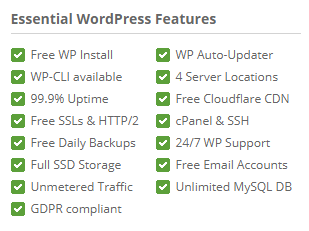 SiteGround WordPress Essential Features