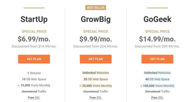 siteground shared pricing
