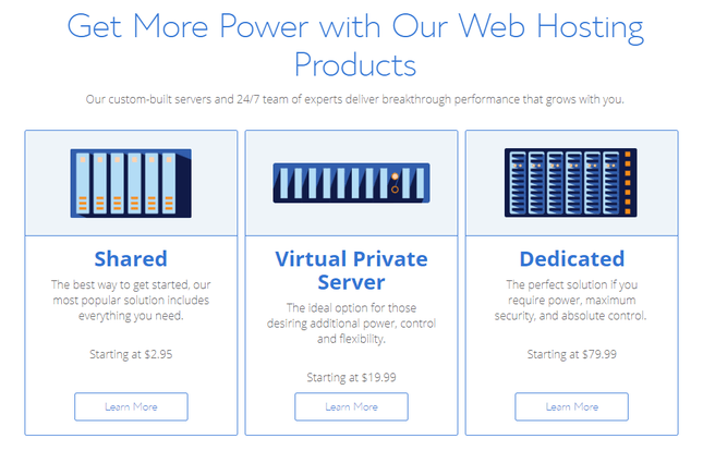 bluehost hosting price plan examples