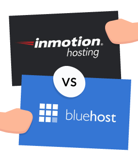 featured image bluehost vs inmotion hosting