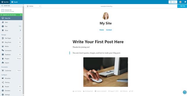 wordpress.com example site