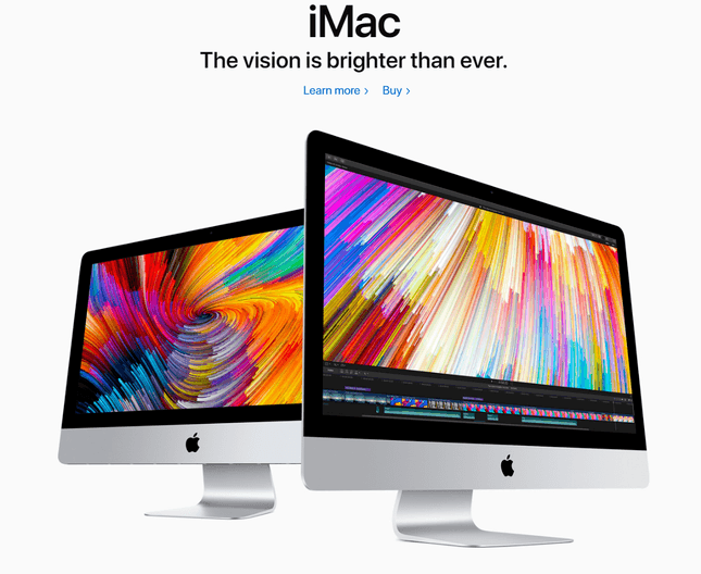 apple imac product example