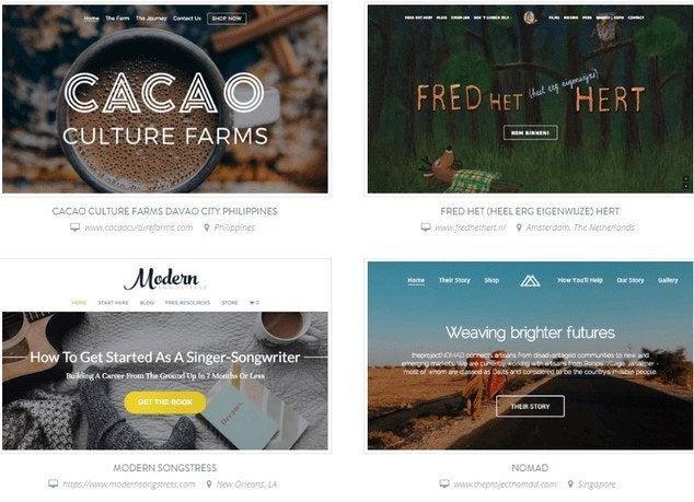 strikingly website examples