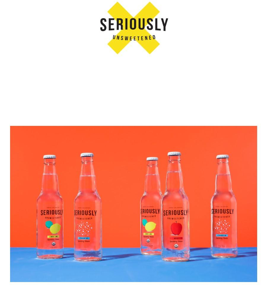 seriously unsweetened website homepage