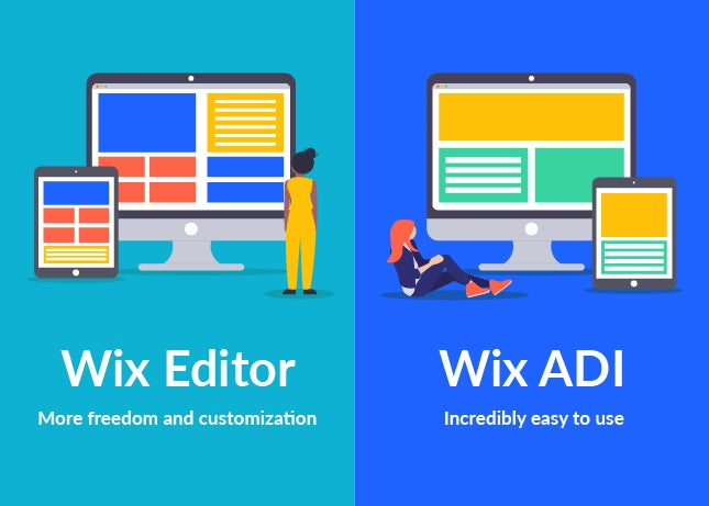 side by side comparison of wix adi and wix editor