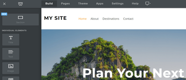 how to use weebly new section layout