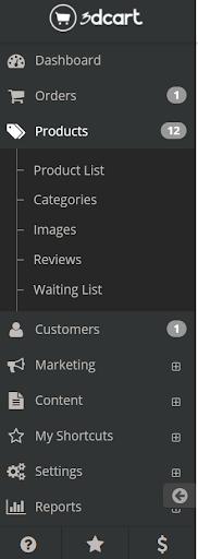 3dcart navigation menu