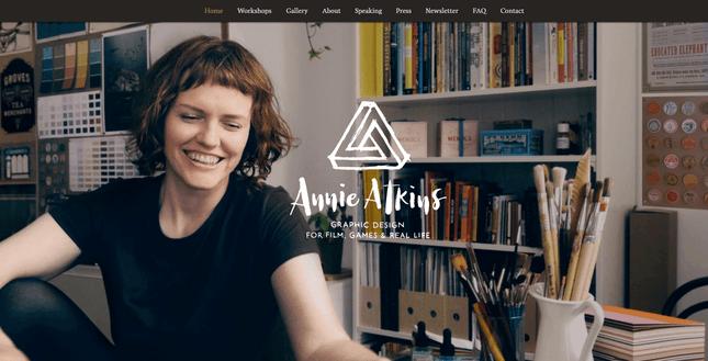wix resume homepage example annie atkins