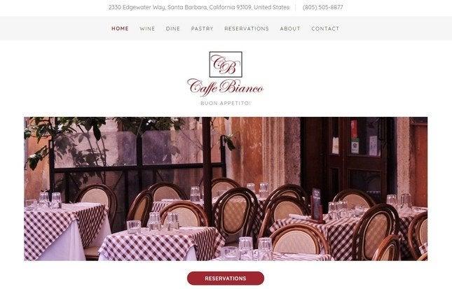 godaddy restaurant example
