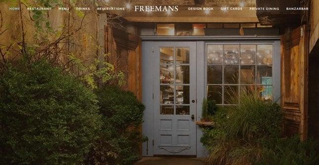 squarespace restaurant website example