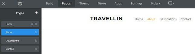 weebly navigation menu