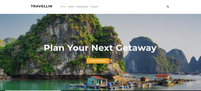 weebly travel template preview