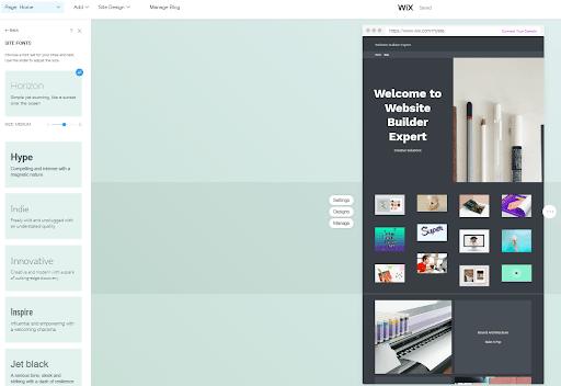 wix adi editor page
