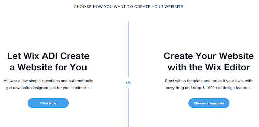 wix adi selection page