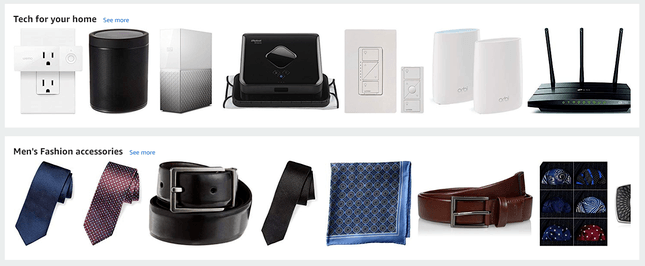 amazon products page design