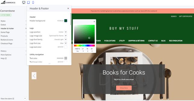 bigcommerce store design tool