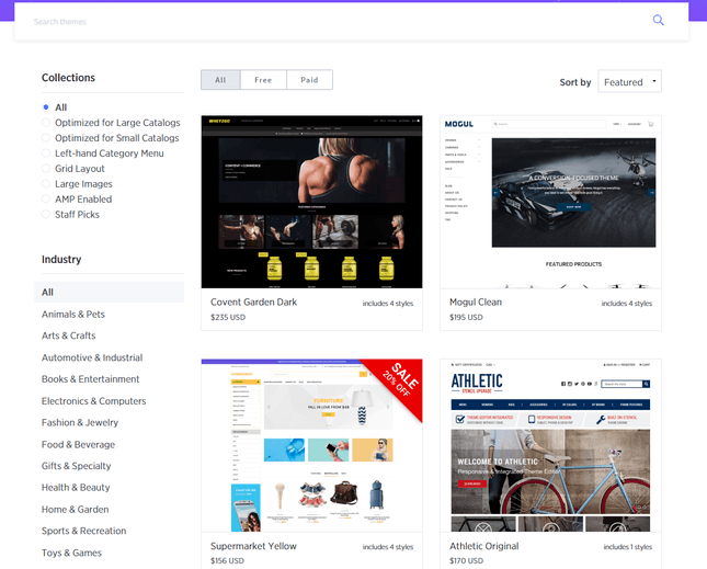 bigcommerce template designs