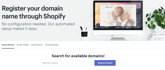 shopify domain name