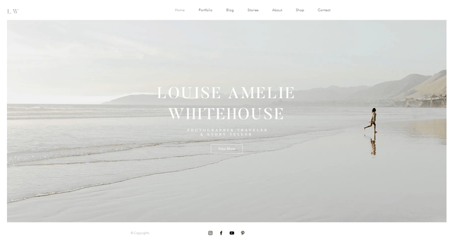 wix website builder photography site