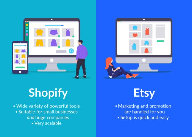 shopify vs etsy comparison