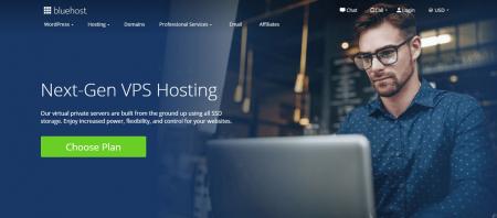 bluehost vps hosting homepage