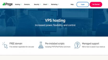 ipage vps hosting homepage