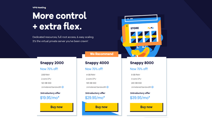 hostagtor vps hosting pricing plans start at $19.95 /month for new customers