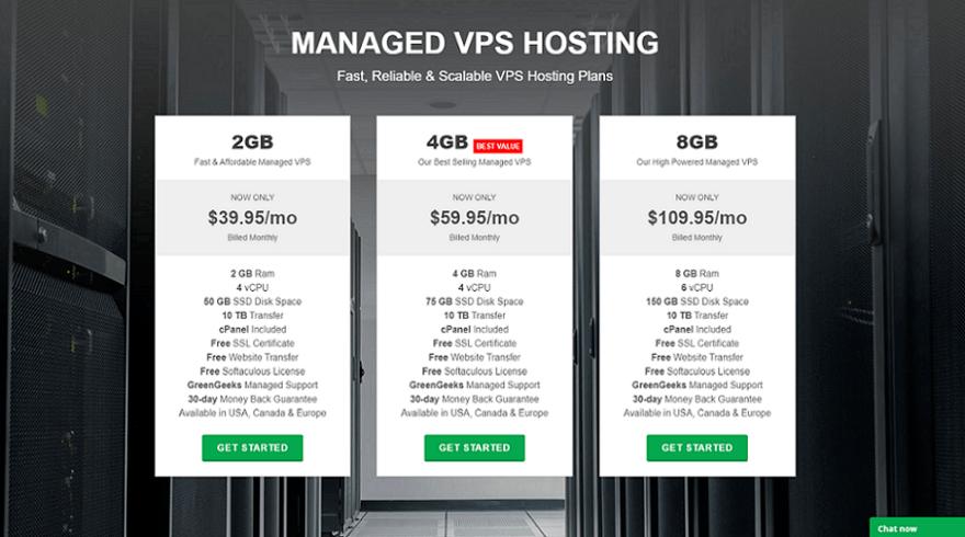 grrengeeks vps hosting pricing plans start at $39.95 /month